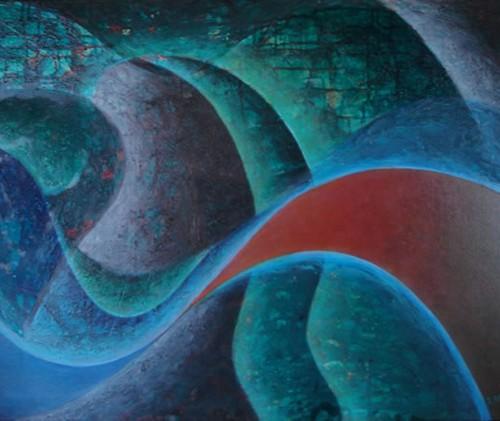 BAJKA II  Acríico sobre tela 60 x 80 cms. 2007